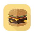 Fastfood Burger Set 5 vector image vector image
