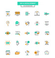Flat Line Color Icons SEO and Development vector image vector image