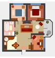 Flat or apartment with rooms top view vector image vector image