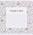 furniture concept with thin line icons vector image vector image