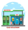 Gas station or petrol store market or shop vector image vector image