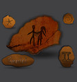 geminizodiac in the form of cave painting vector image vector image