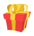 Gift box cartoon icon vector image vector image
