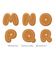 gingerbread letters isolated on white vector image