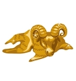 Gold figure of calf Taurus isolated vector image vector image