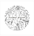 Hand drawn Save animal planet vector image