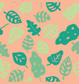hand drawn tropical leaves pattern pink vector image vector image