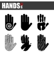 hands design vector image