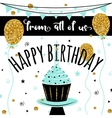 Happy Birthday card Happy Birthday vector image vector image
