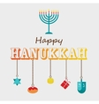 Happy Hanukkah greeting card design vector image vector image