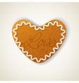 Happy valentines day cookie vector image vector image