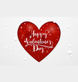 happy valentines day typography and heart vector image