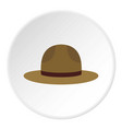 hat officer of canadian equestrian cavalry icon vector image