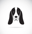 image of an basset hound head vector image vector image
