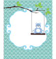 invitation card bear vector image vector image