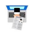 job search online job interview looking for job vector image