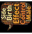 Know the Side Effects of Vasectomy Male Birth vector image vector image