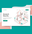 landing page template access and security vector image