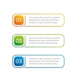 Layout workflow Outline colorful menu for app vector image