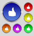 Like Thumb up icon sign Round symbol on bright vector image vector image
