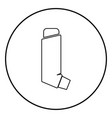 manual inhaler icon black color in circle round vector image