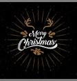 merry christmas happy new year logo amp symbol vector image vector image