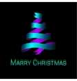 Modern abstract christmas tree background eps10 vector image vector image