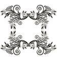 monochrome frame leaves and curls sample vector image