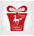new year card with present vector image vector image