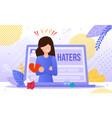 online hatters victim trendy flat concept vector image vector image