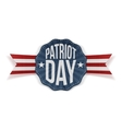 Patriot Day Text on realistic Banner vector image
