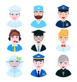 people occupation on white background vector image vector image