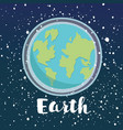 planet earth icon symbol vector image