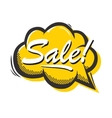 Pop art style Sale isolated speech bubble vector image vector image