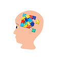 puzzles in the brain head world autism day vector image