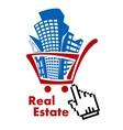 Real estate in shopping cart vector image vector image