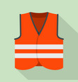 road vest icon flat style vector image vector image