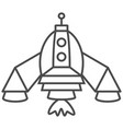 rocket icon isolated on white vector image vector image