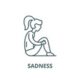 sadness line icon linear concept outline vector image vector image
