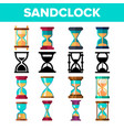 sandclock icon set timer symbol interval vector image