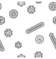 seamlessbacteria and viruses pattern vector image vector image