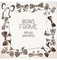 Sepia bows frame vector image