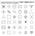 set black hud dots pointers targets elements vector image vector image