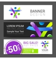 set of banners creative people discount tamplate vector image vector image