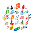 specialist training icons set isometric style vector image vector image