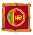 sri lanka flag on round badge vector image