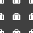suitcase icon sign Seamless pattern on a gray vector image vector image