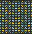tile pattern with blue and mint green zig zag vector image vector image