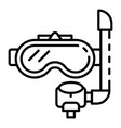 underwater mask icon outline style vector image