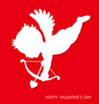 valentines day 3d relief cupid icon vector image